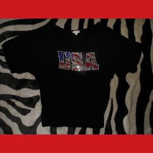 4th if July American Flag T-Shirt USA HOLIDAY
